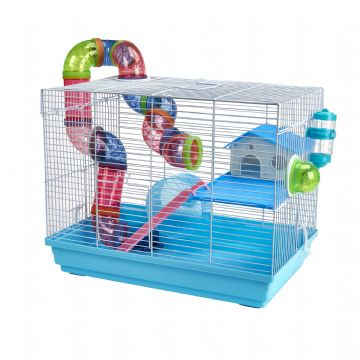 Pet Ting Blue Peach Rodent Cage